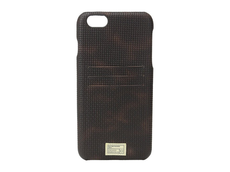 HEX - iPhone6+/6S+ Solo Wallet (Brown Woven) Cell Phone Case