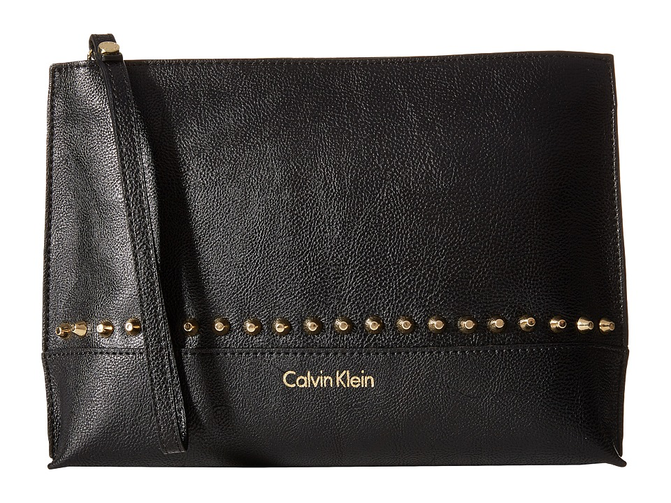 Calvin Klein - Pebble PVC Pouch (Black Studded) Travel Pouch