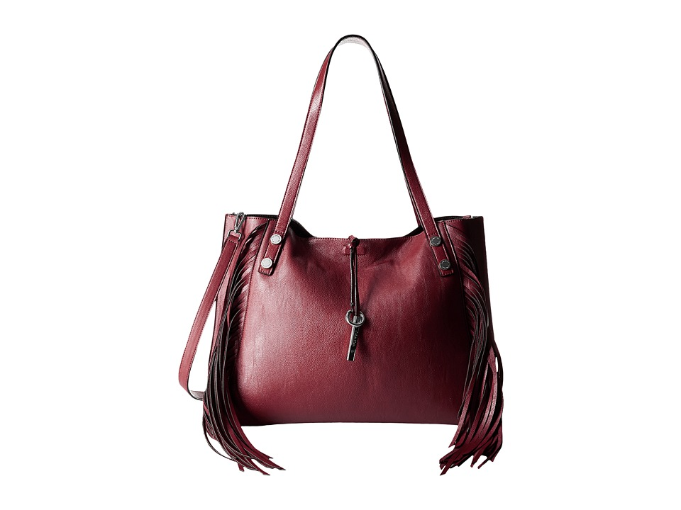 Calvin Klein - Reversible Fringe Tote (Valentine/Black) Tote Handbags