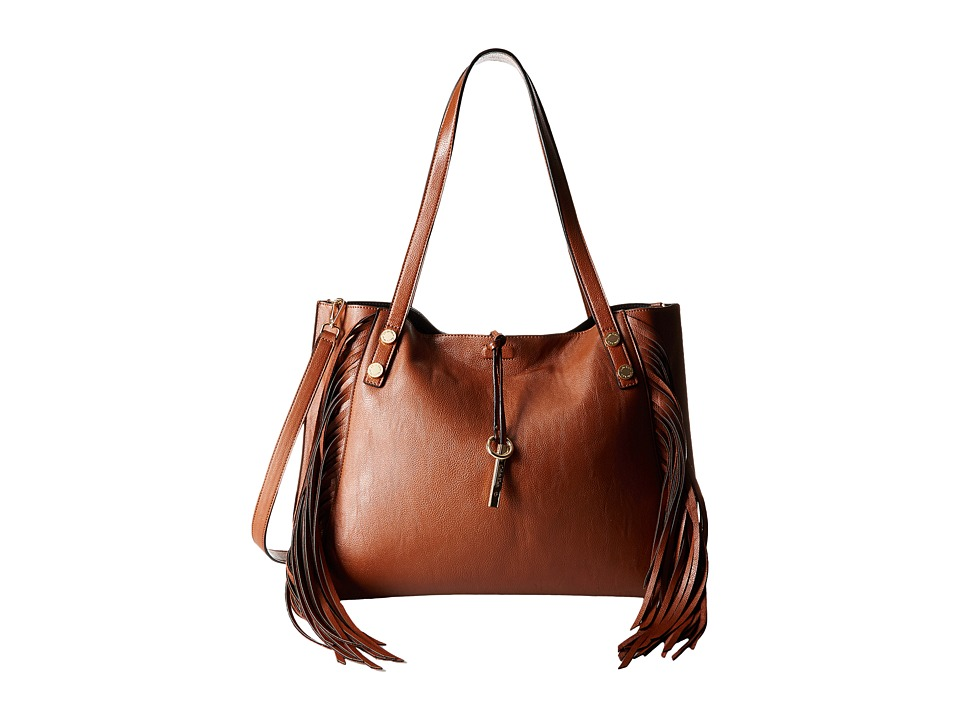 Calvin Klein - Reversible Fringe Tote (Luggage/Black) Tote Handbags