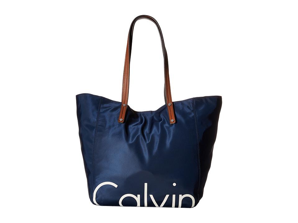 Calvin Klein - Athleisure Tote (Navy) Tote Handbags
