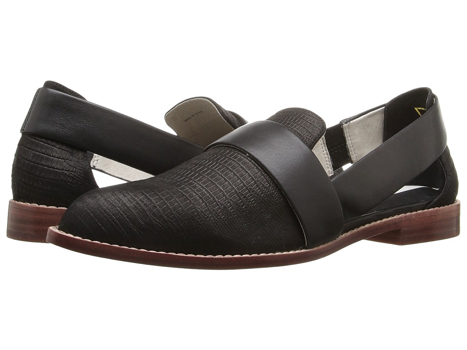 Matt Bernson - Cooper (Black Lizard) Women's Slip on Shoes