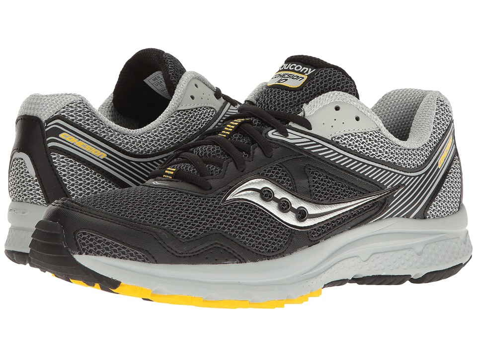 Saucony - Cohesion TR10 (Black/Grey/Yellow) Men's Shoes