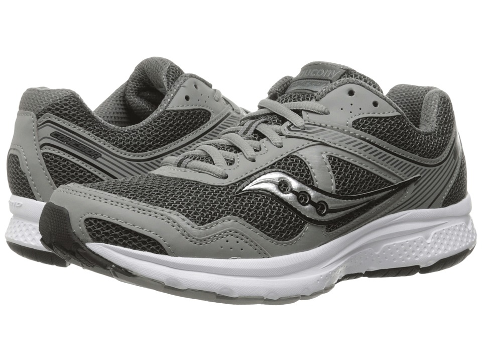 Saucony - Cohesion 10 (Grey/Silver) Men's Shoes