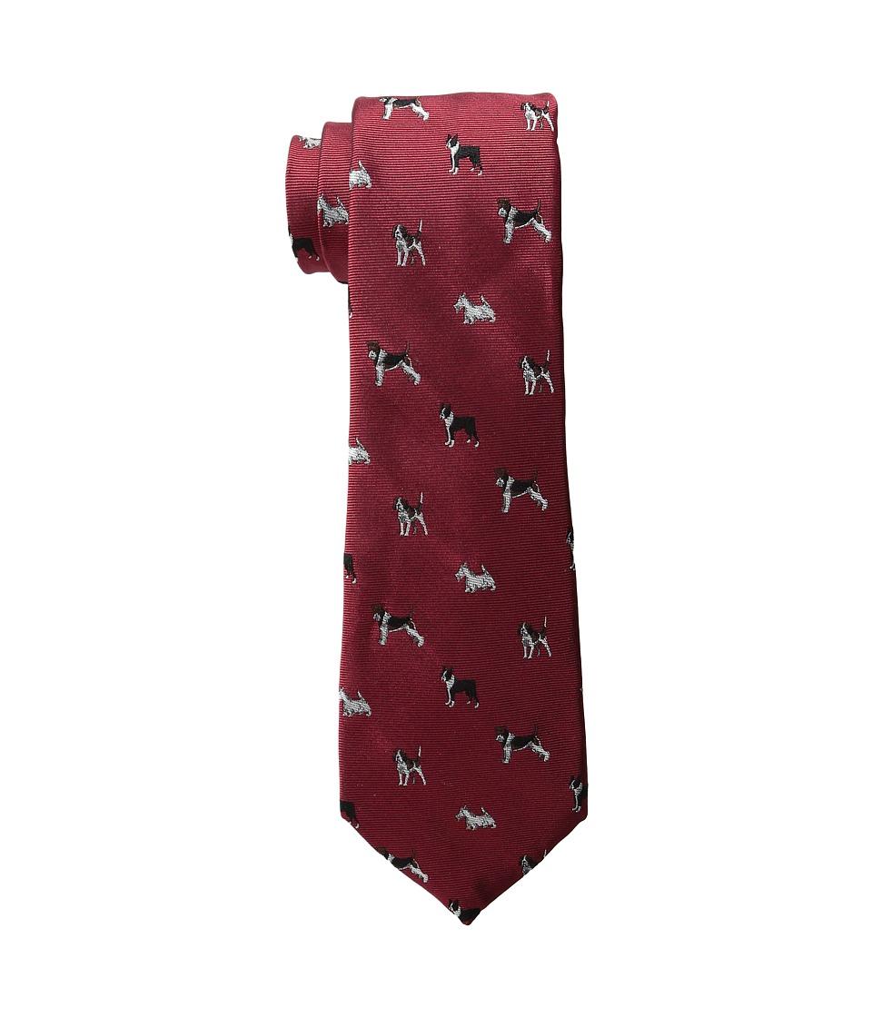 LAUREN Ralph Lauren - Canine Club Tie (Red) Ties
