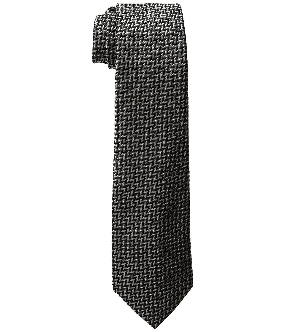 LAUREN Ralph Lauren - Herringbone Jacquard Tie (Grey/Black) Ties
