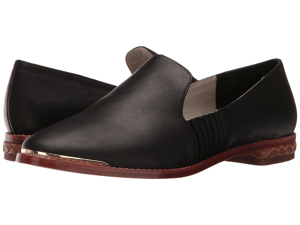 Matt Bernson - Ellington (Black Waxy Leather) Women's Slip on Shoes