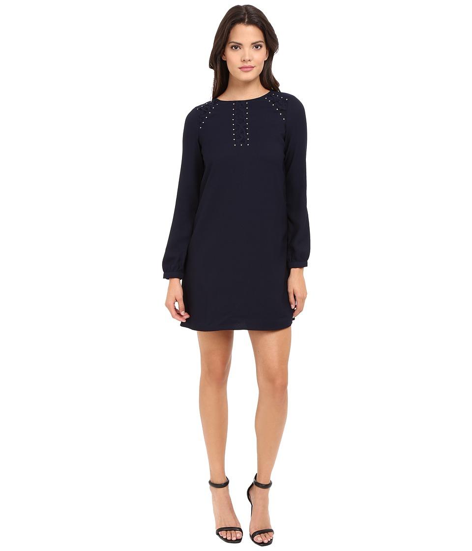 Jessica Simpson - Satin Back Crepe Dress (Peacoat) Women's Dress