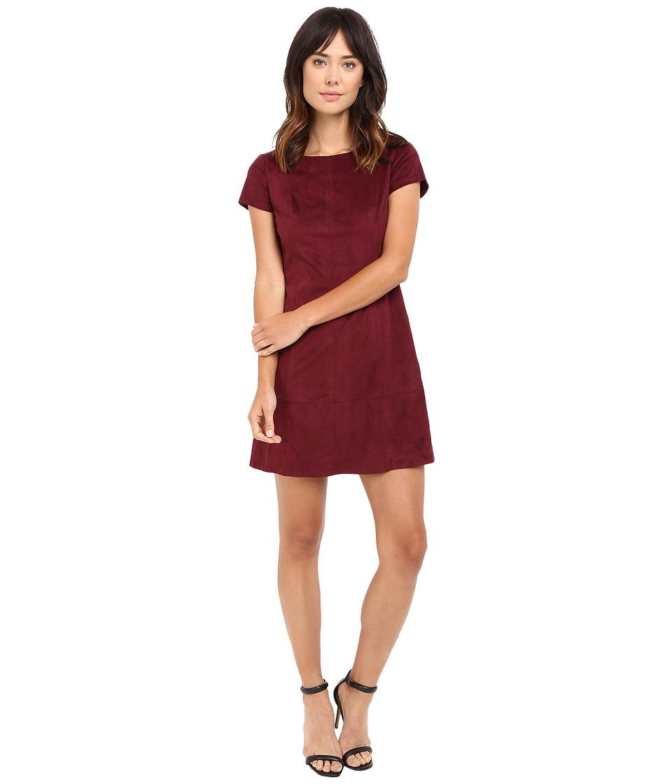 Jessica Simpson Faux Suede T-Shirt Dress (Winetasting) Women