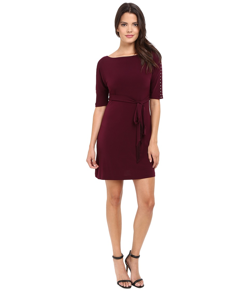 Jessica Simpson Solid Ity Dress with Sash (Winetasting) Women