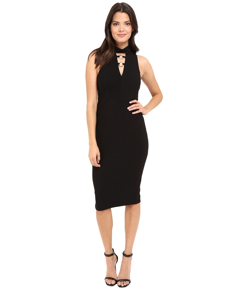 Jessica Simpson - Bandage Knit Midi Dress (Black) Women's Dress