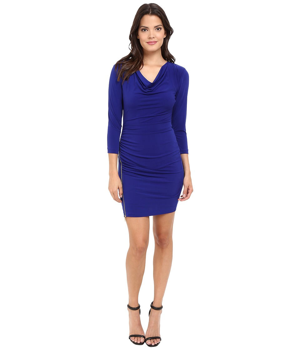 Jessica Simpson Solid Ity Dress (Blue Violet) Women