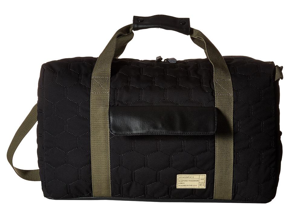 HEX - Drifter Duffel (Empire Black/Quilt) Duffel Bags