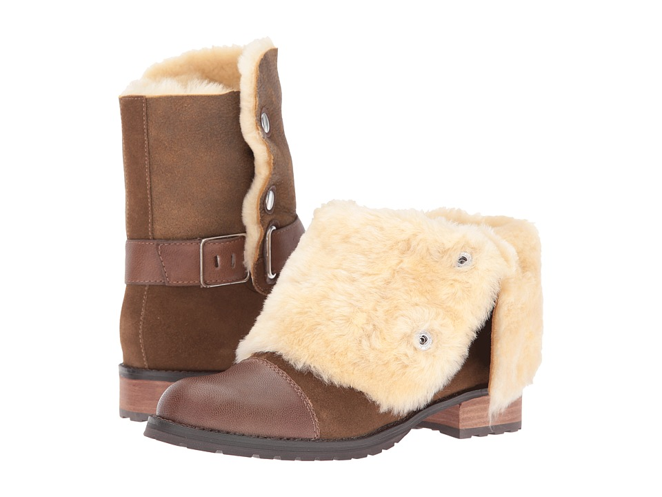 Matt Bernson - Tundra (Bark Suede/Cream Shearling) Women's Boots