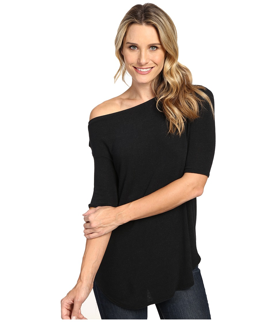 Allen Allen - Elbow Sleeve Off the Shoulder (Black) Women's Clothing