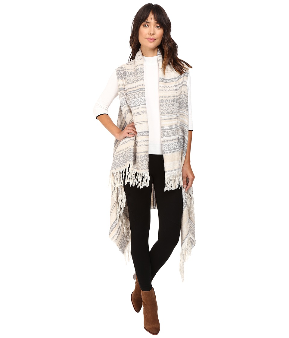 BCBGeneration - Jacquard Ruana (Optic White) Women's Clothing