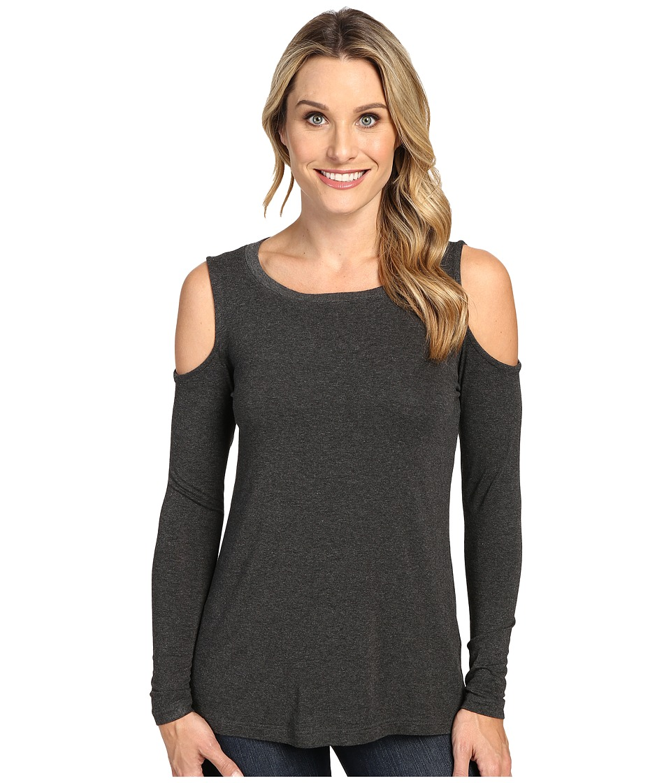 Allen Allen - Open Shoulder (Charcoal) Women's Clothing