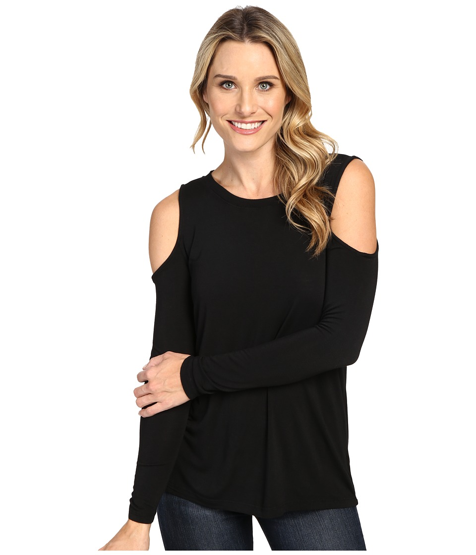 Allen Allen - Open Shoulder (Black) Women's Clothing