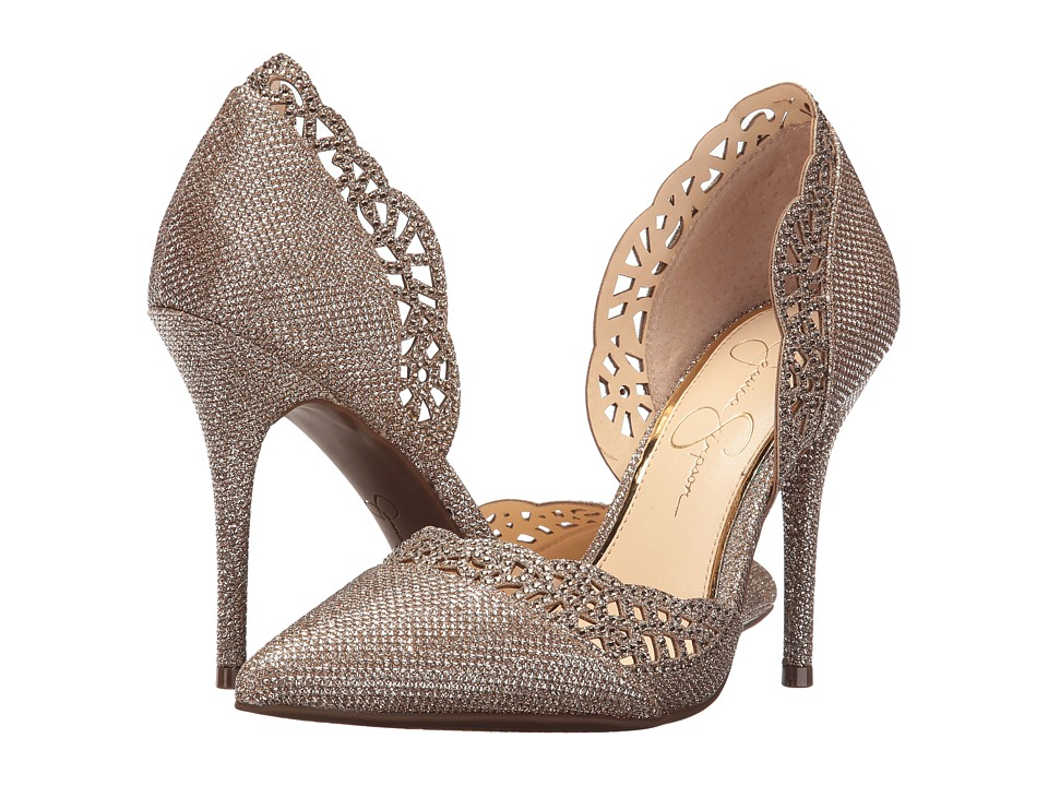 Jessica Simpson - Teriann (Gold Sparkle Mesh) Women's Shoes