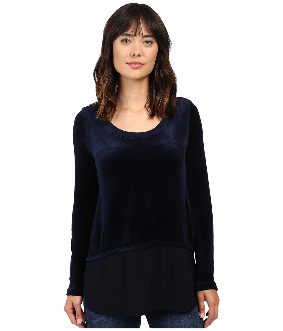 Allen Allen - Velour Double Layer (Navy) Women's Clothing