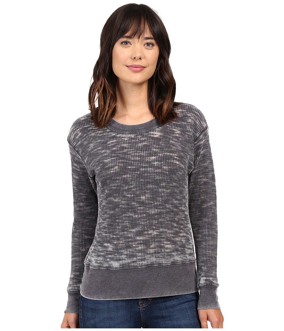 Allen Allen - Long Sleeve Crew (Deep Grey) Women's Clothing