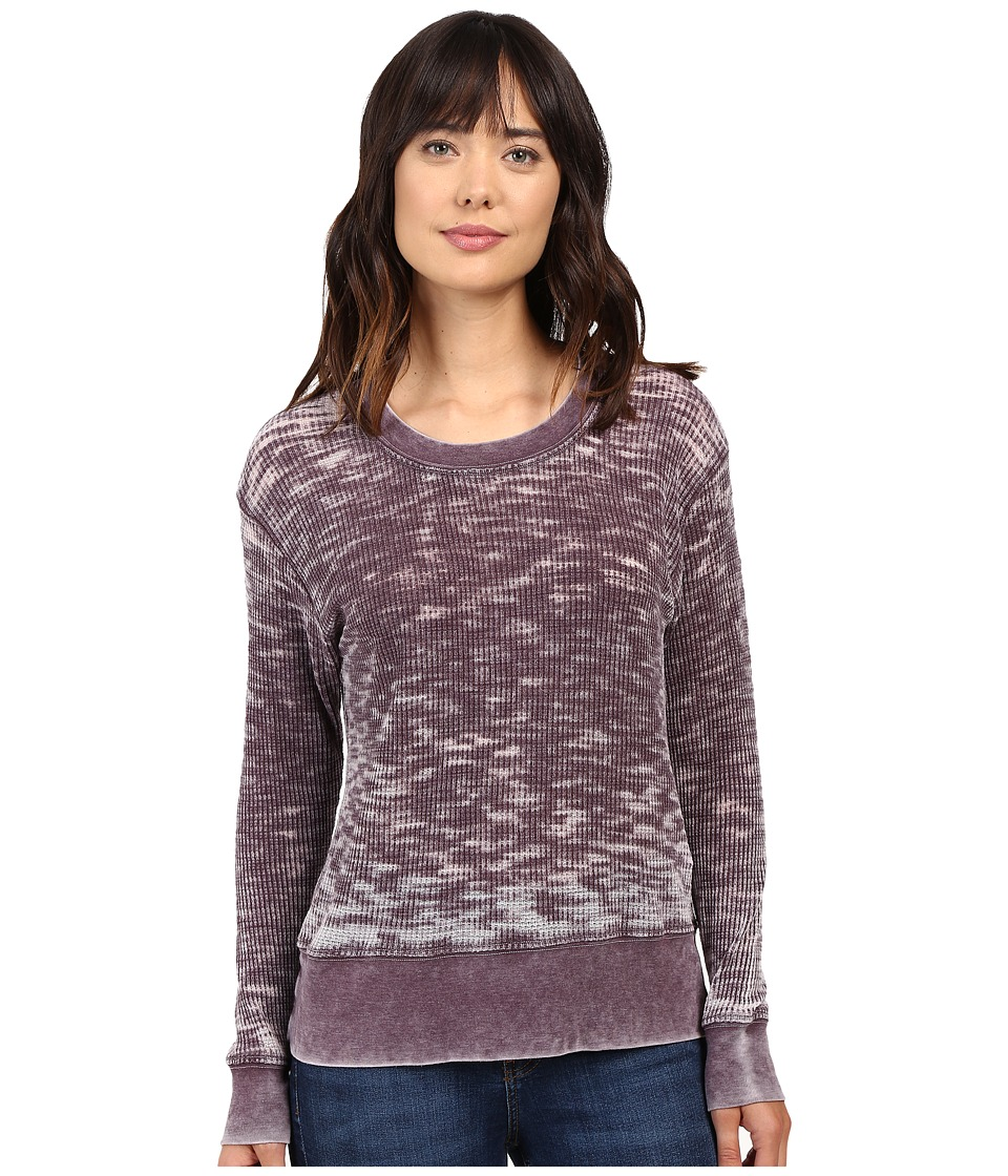 Allen Allen - Long Sleeve Crew (Eggplant) Women's Clothing