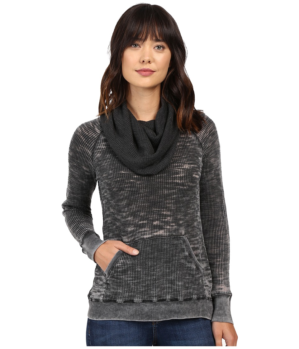 Allen Allen - Elbow Patch Cowl (Black) Women's Clothing