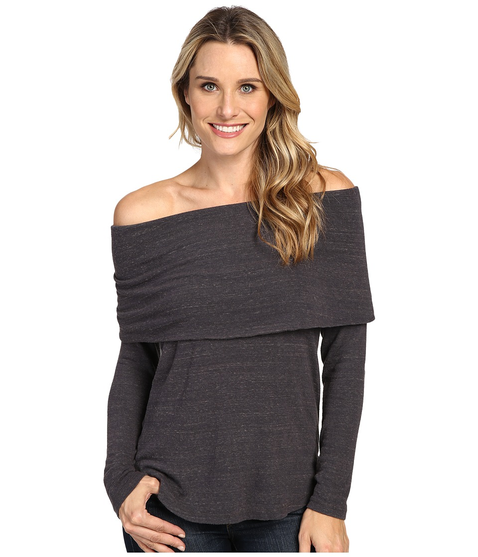 Allen Allen - Off the Shoulder (Deep Grey) Women's Clothing