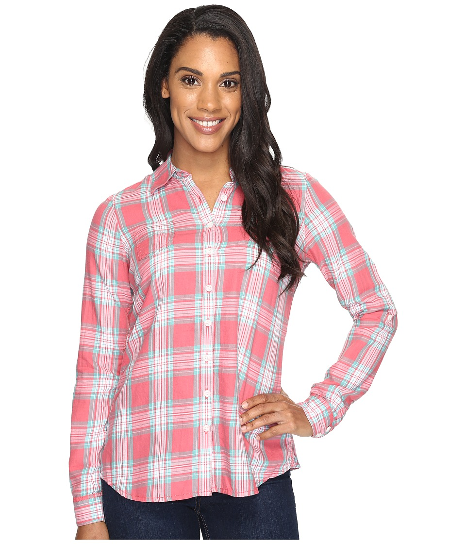 Aventura Clothing - Sheridan Long Sleeve (Spiced Coral) Women's Long Sleeve Button Up