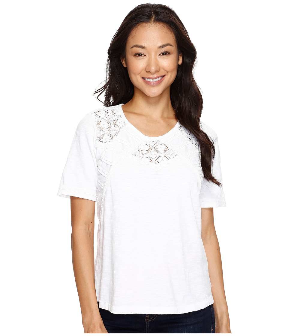 Aventura Clothing Tierney Elbow Sleeve (White) Women
