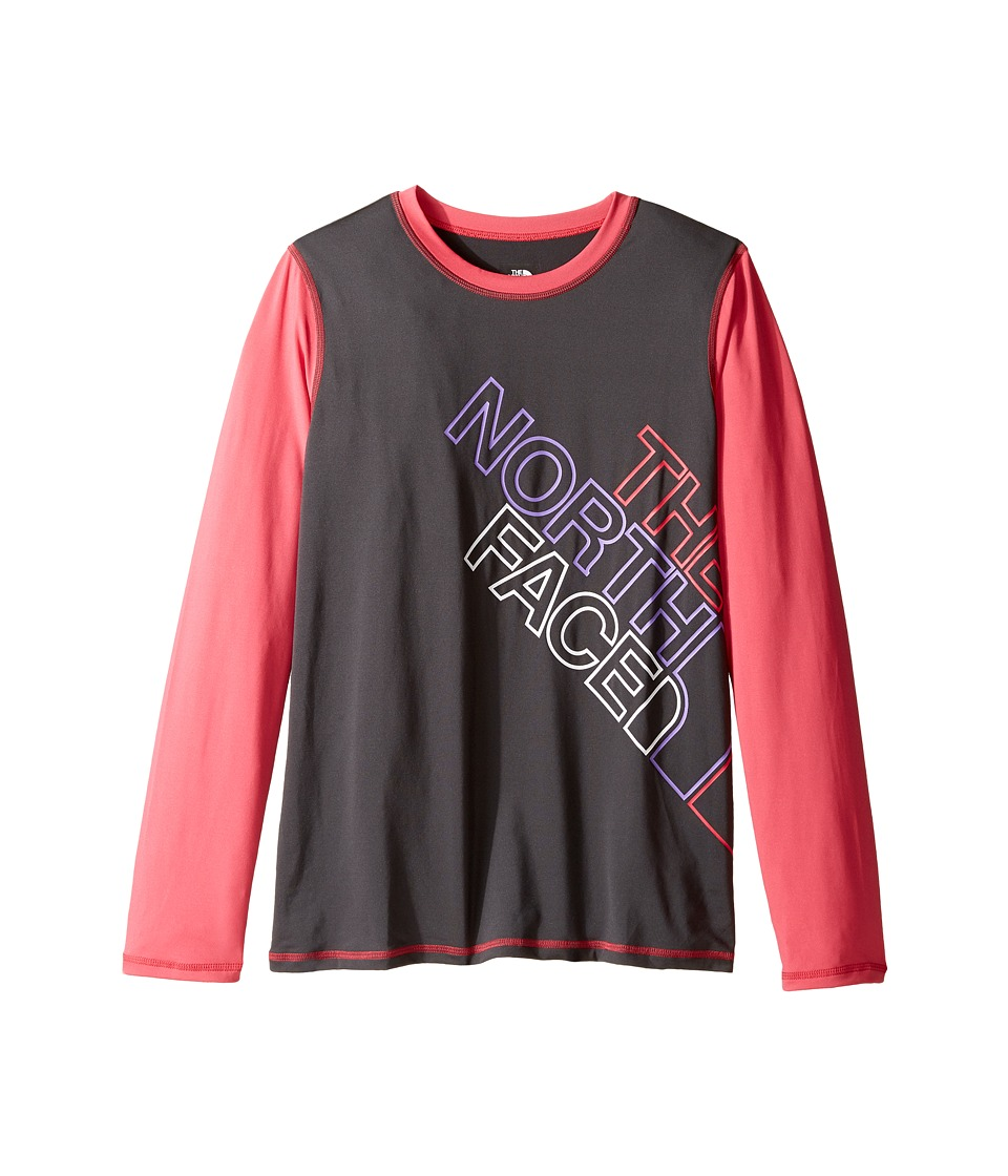 The North Face Kids - Long Sleeve Hike/Water Tee (Little Kids/Big Kids) (Graphite Grey (Prior Season)) Girl's T Shirt