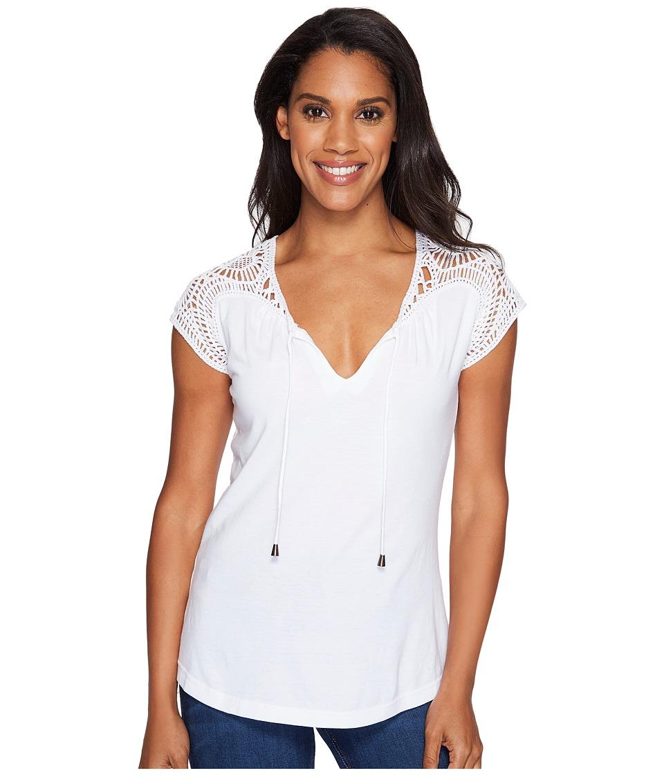 Aventura Clothing - Carlene Short Sleeve (White) Women's Clothing