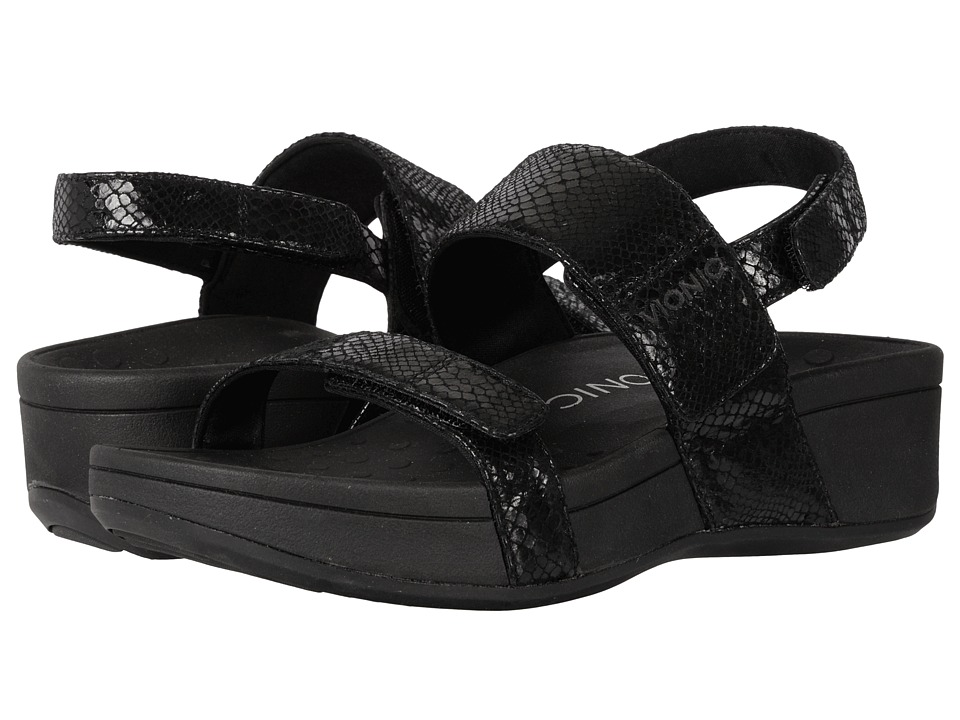 VIONIC - Bolinas (Black Snake) Women's Sandals