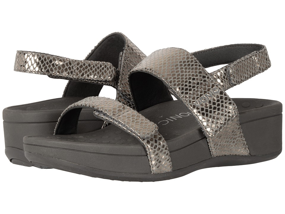 VIONIC - Bolinas (Pewter Metallic Snake) Women's Sandals