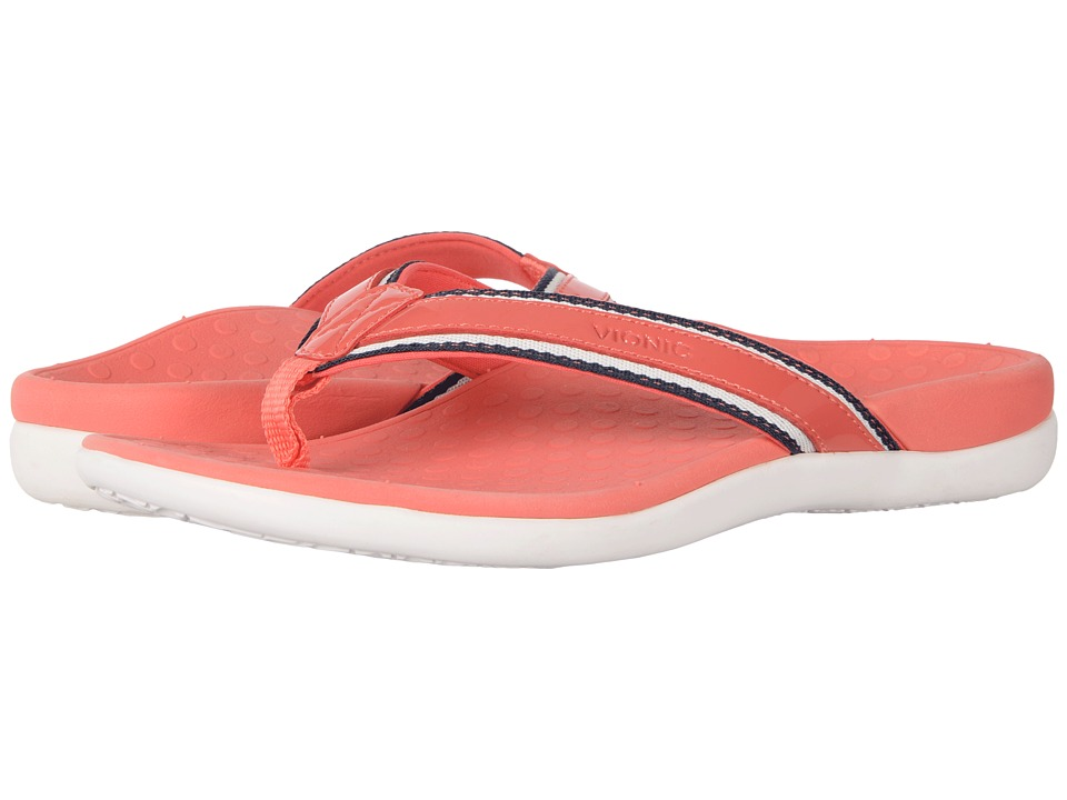 VIONIC - Tide Sport (Deep Sea Coral Patent Leather) Women's Sandals