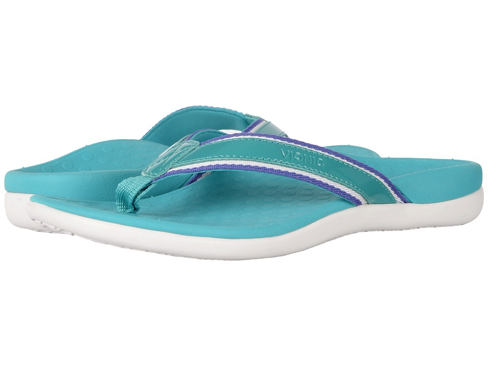 VIONIC - Tide Sport (Teal Patent Leather) Women's Sandals