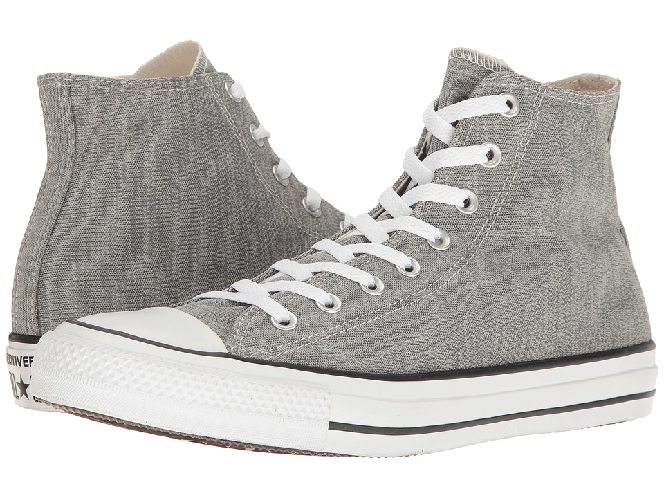 Converse - Chuck Taylor(r) All Star(r) Heathered Knit Hi (Charcoal Grey/Mouse/White) Classic Shoes