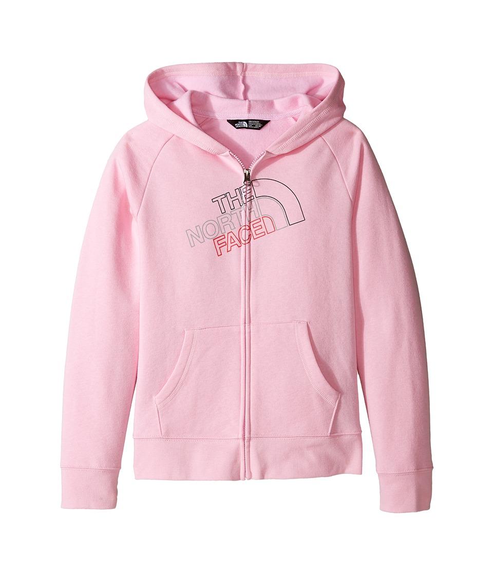 The North Face Kids - Logowear Full Zip Hoodie (Little Kids/Big Kids) (Lilac Sachet Pink (Prior Season)) Girl's Sweatshirt