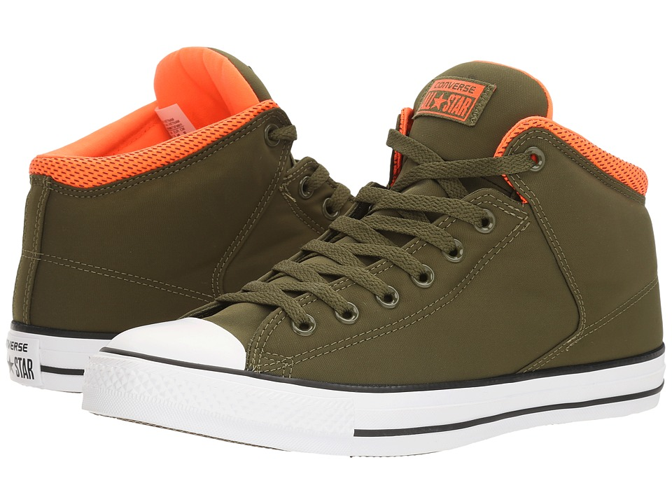 Converse - Chuck Taylor(r) All Star(r) High Street Backpack Poly Hi (Herbal/Hyper Orange/White) Men's Classic Shoes
