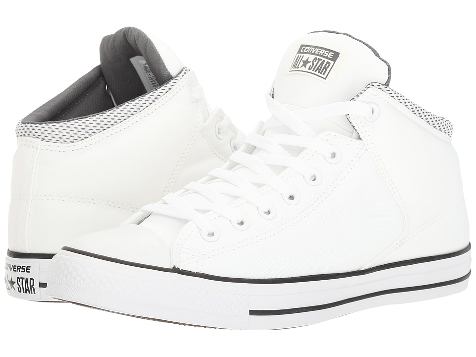Converse - Chuck Taylor(r) All Star(r) High Street Backpack Poly Hi (White/Black/Thunder) Men's Classic Shoes