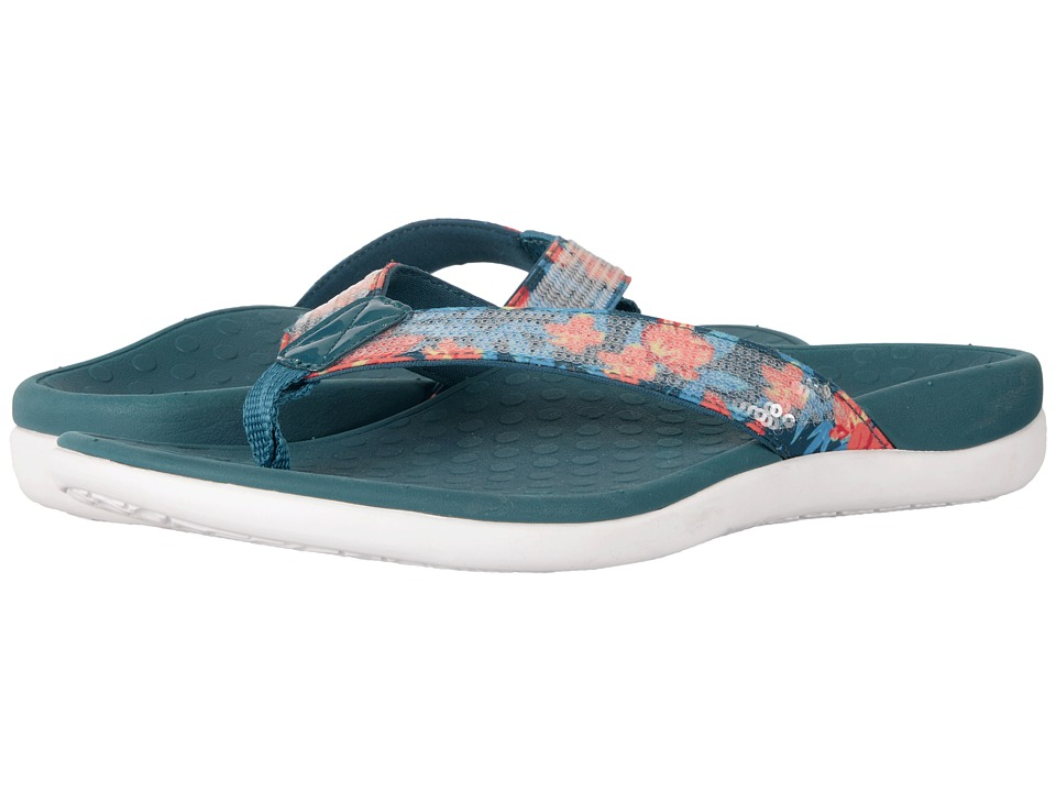 VIONIC - Tide Sequins (Teal Floral Print) Women's Sandals