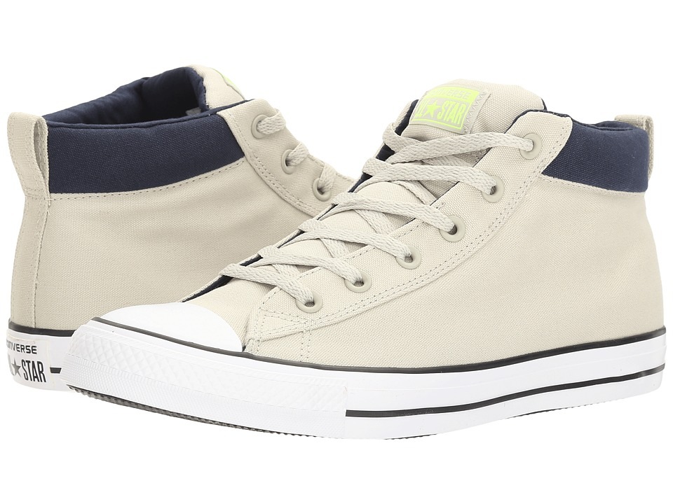 Converse - Chuck Taylor(r) All Star(r) Street Basics Mid (Light Surplus/Volt/White) Men's Classic Shoes