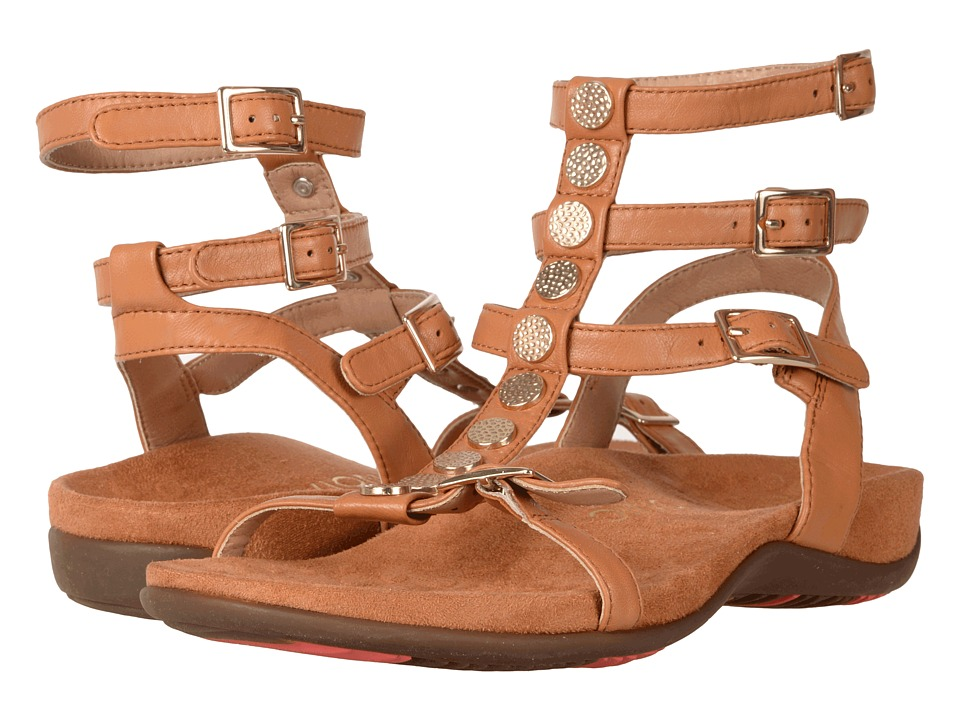 VIONIC - Sonora (Caramel Leather) Women's Dress Sandals