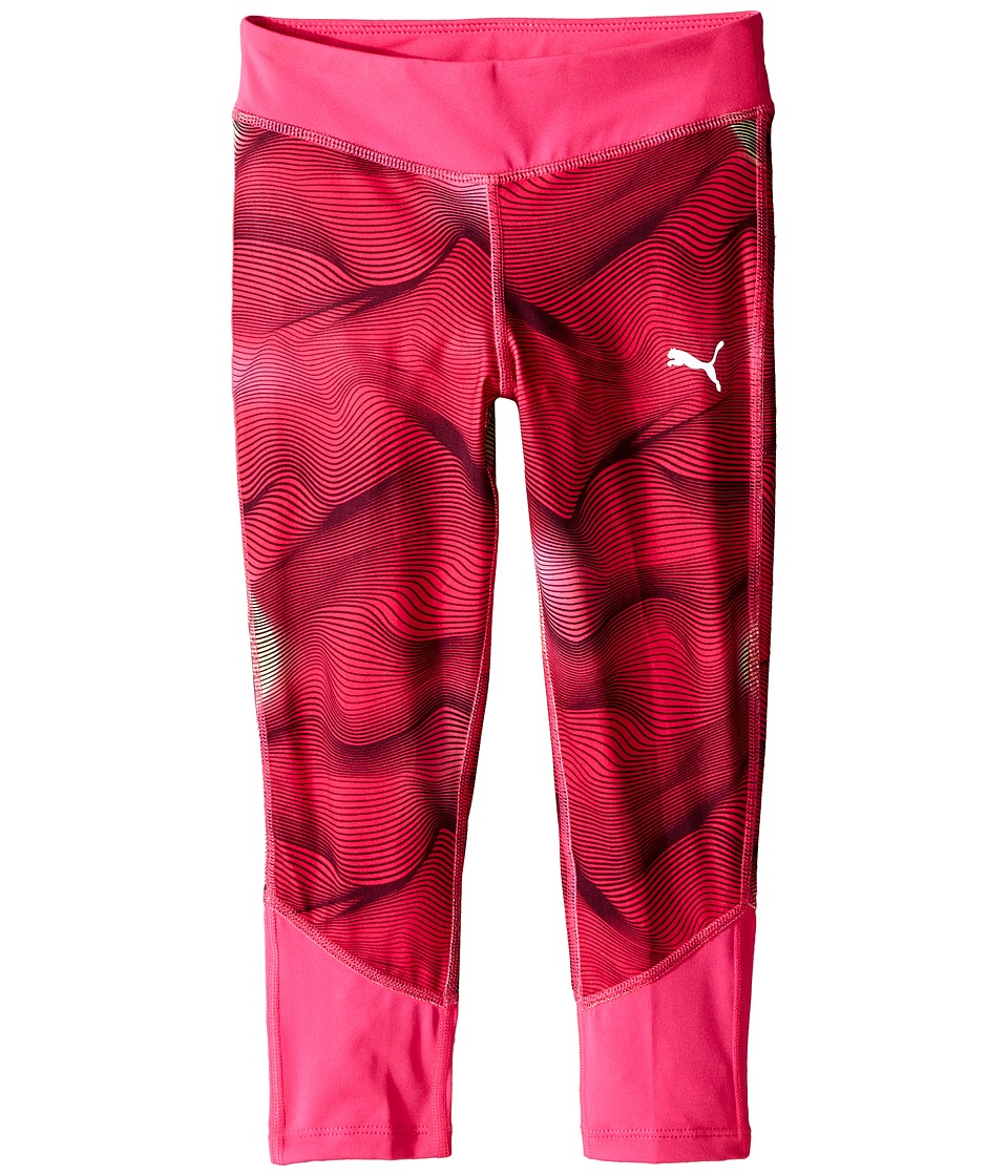 Puma Kids - Cropped Tights w/ Contrast Piecing (Little Kids) (Pink Glow) Girl's Casual Pants