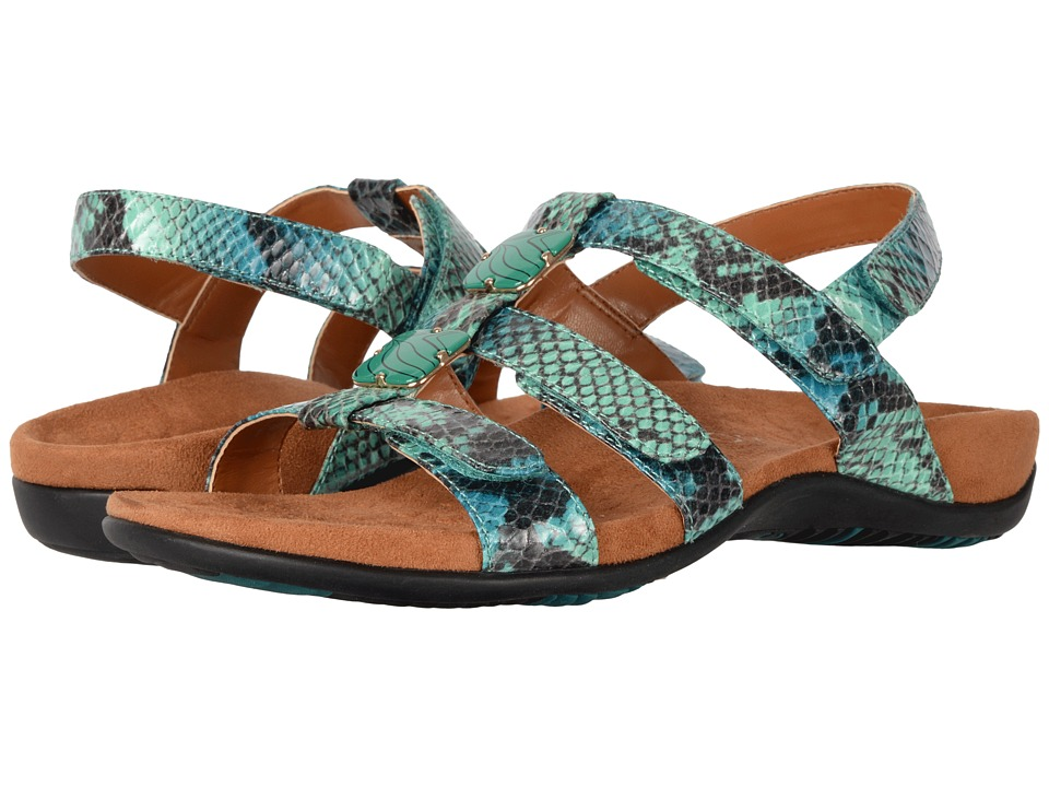 VIONIC - Amber (Teal Snake) Women's Sandals