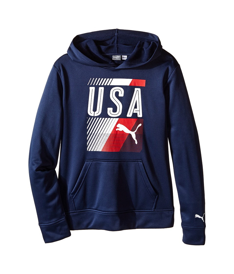Puma Kids - USA Olympic Hoodie (Big Kids) (Deep Navy) Boy's Sweatshirt