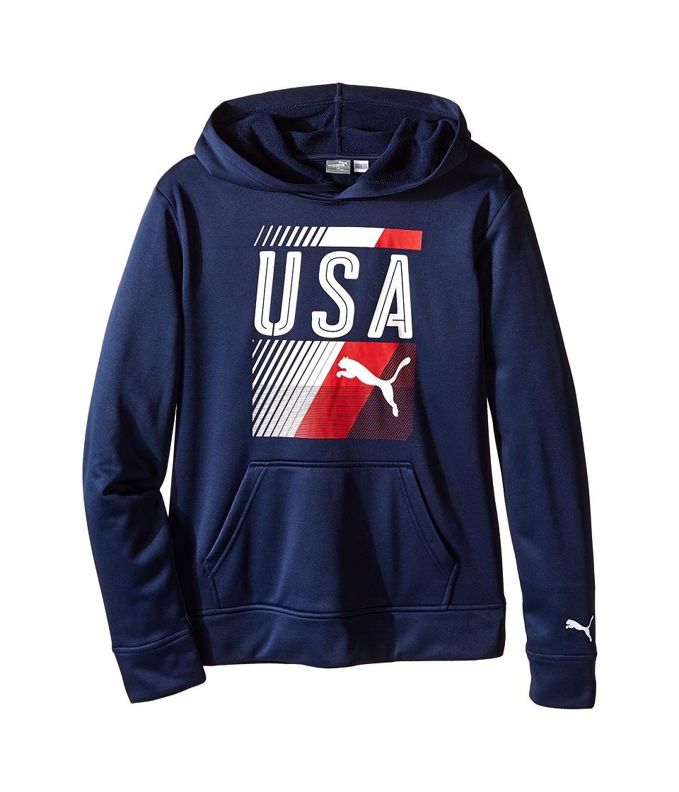 Puma Kids - USA Olympic Hoodie (Big Kids) (Deep Navy) Boy's Sweatshirt