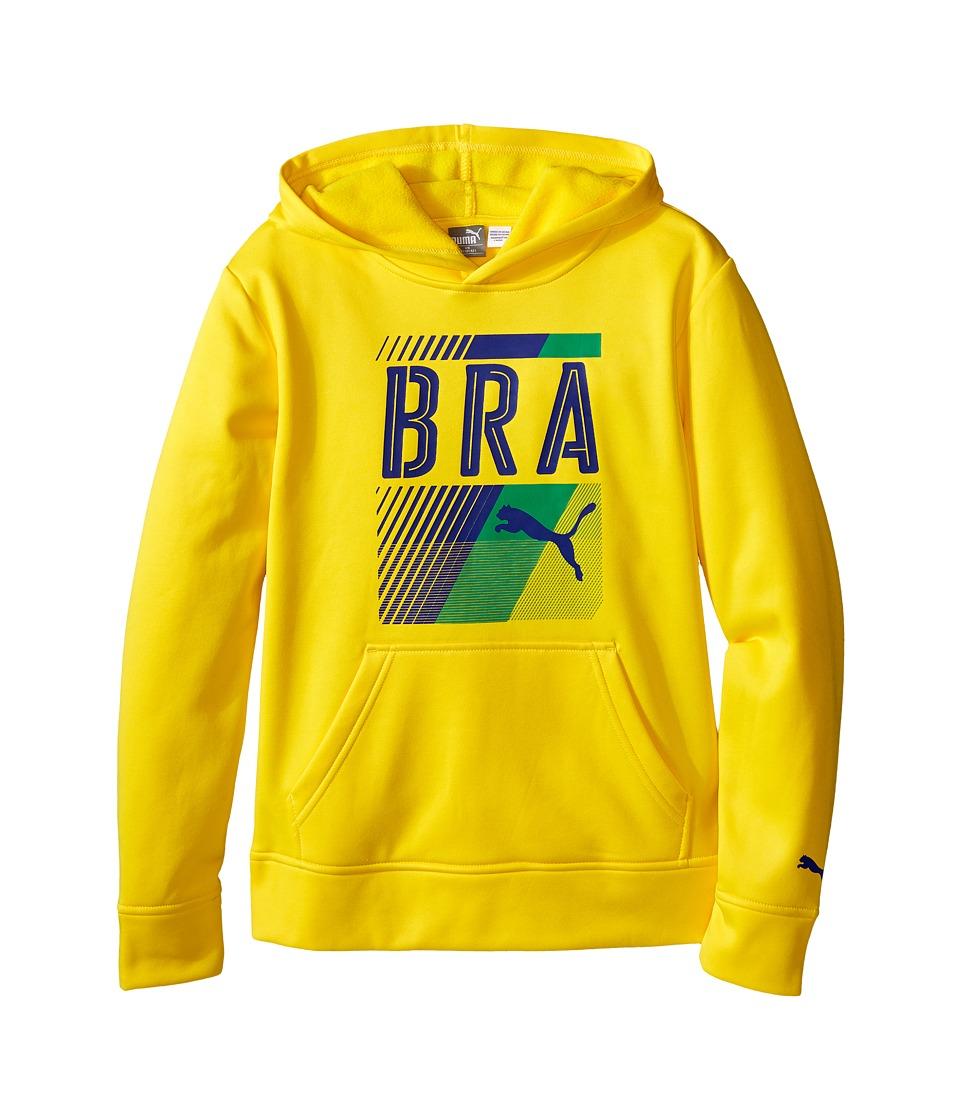 Puma Kids - Brazil Olympic Hoodie (Big Kids) (Cyber Yellow) Boy's Sweatshirt