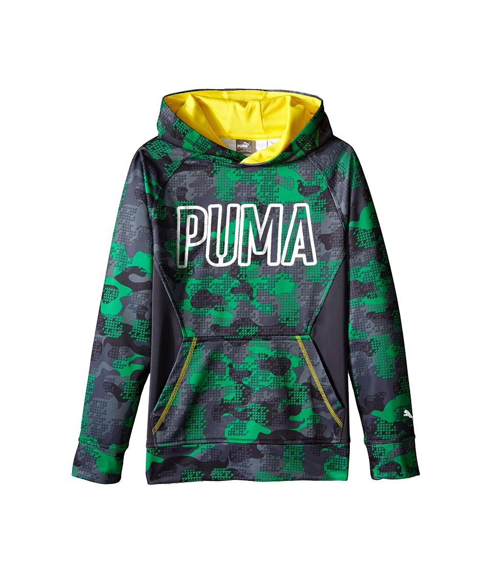 Puma Kids - Camo Print Hoodie (Big Kids) (Astro Turf) Boy's Sweatshirt