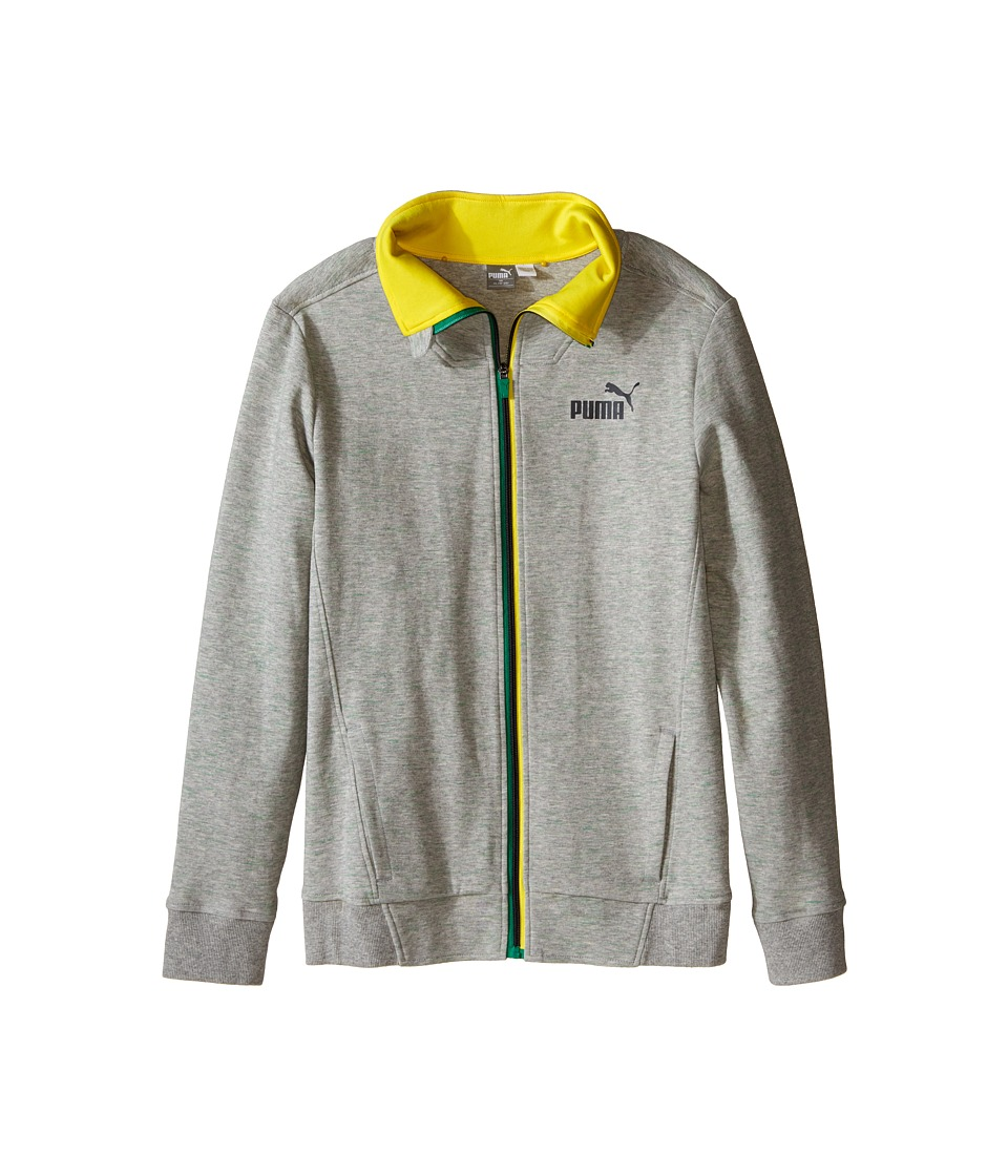 Puma Kids - Fast Track Jacket (Big Kids) (Light Grey Heather) Boy's Clothing